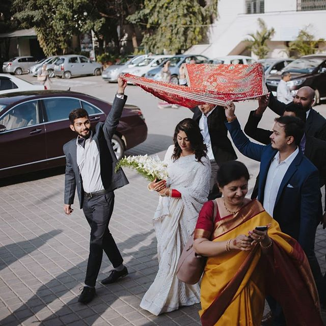 Here comes the bride! . . . Rashmi + Ashwin, Bangalore . . . . . . . #weddingsbyBasic #basic #studiobasic #indianweddings #weddingmornings #bangaloreweddings #bangaloreweddingphotographer #couple #coupleshoot #weddingphotography #indianwedding #indian_wedding_inspiration #junebugweddings  #love #weddedwonderland #wedphotoinspiration #instalove #instawedding #love #brideandgroom #indianbrideandgroom #bigfatindianwedding #destinationweddinghotography #destinationweddingphotographer #prewedding #basicmoments