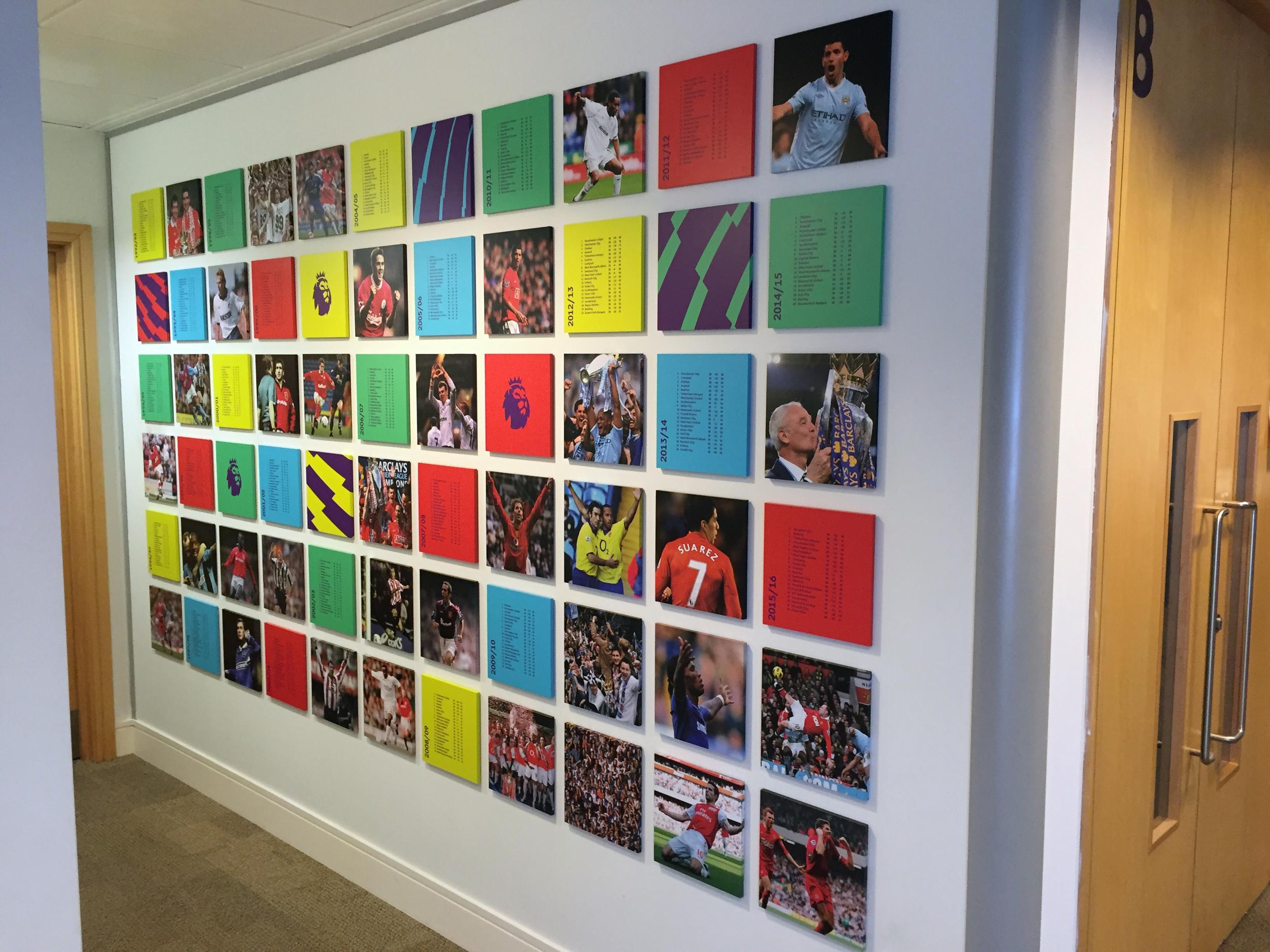 Premier League Date Wall