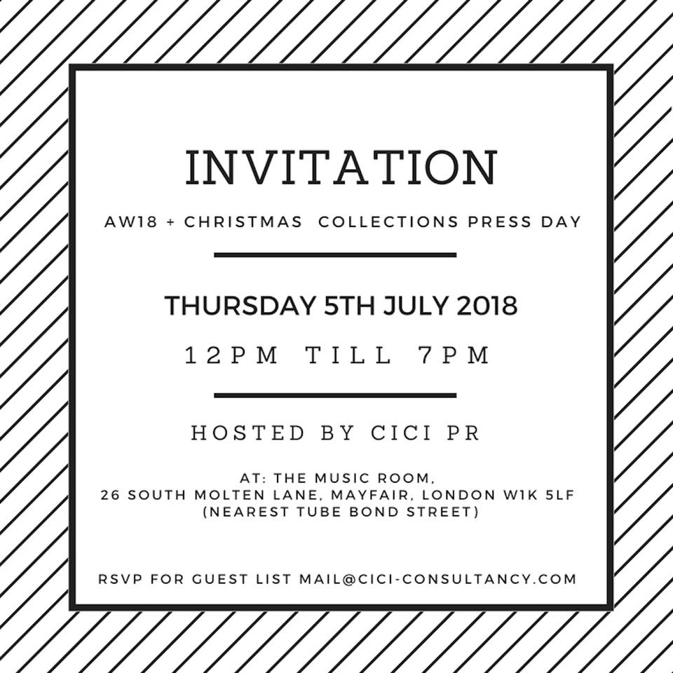 AW 18 COLLECTION PRESS DAY