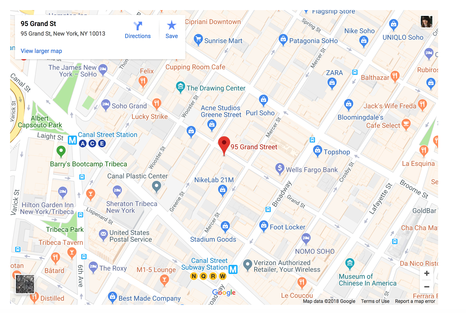 MAP OF W AND B SOHO