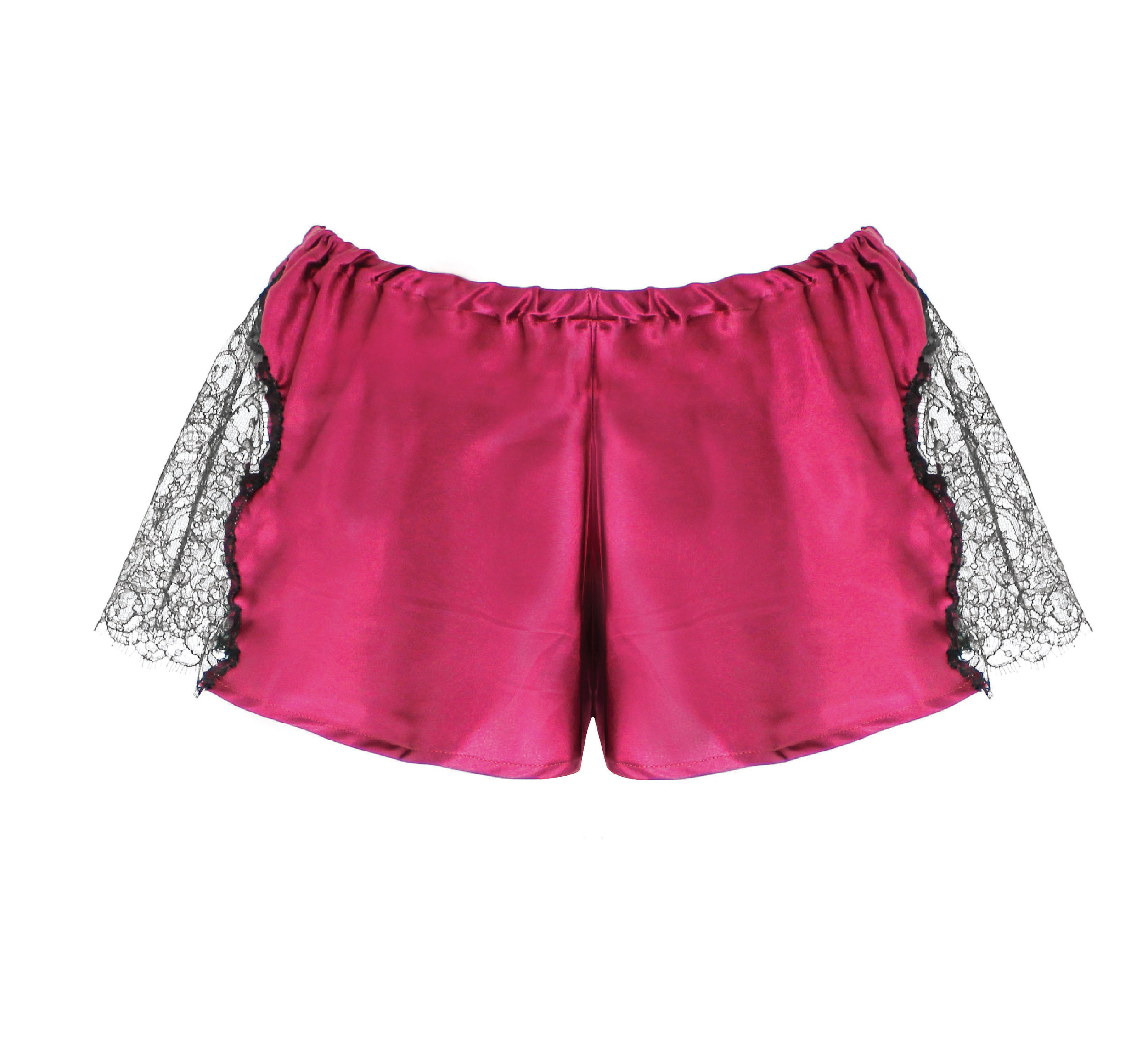 LUXURIOUS SILK WITH FRENCH DESIGNED LACE FRENCH KNICKERS SIZE 8