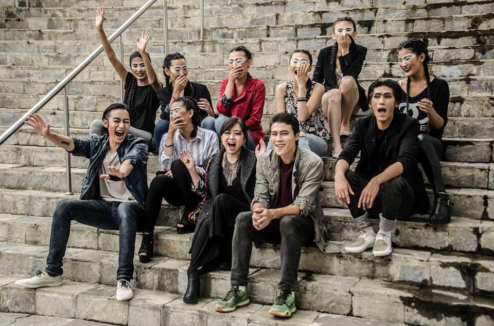 Pre-show bliss at Royal Textile Academy, Thimphu, Bhutan