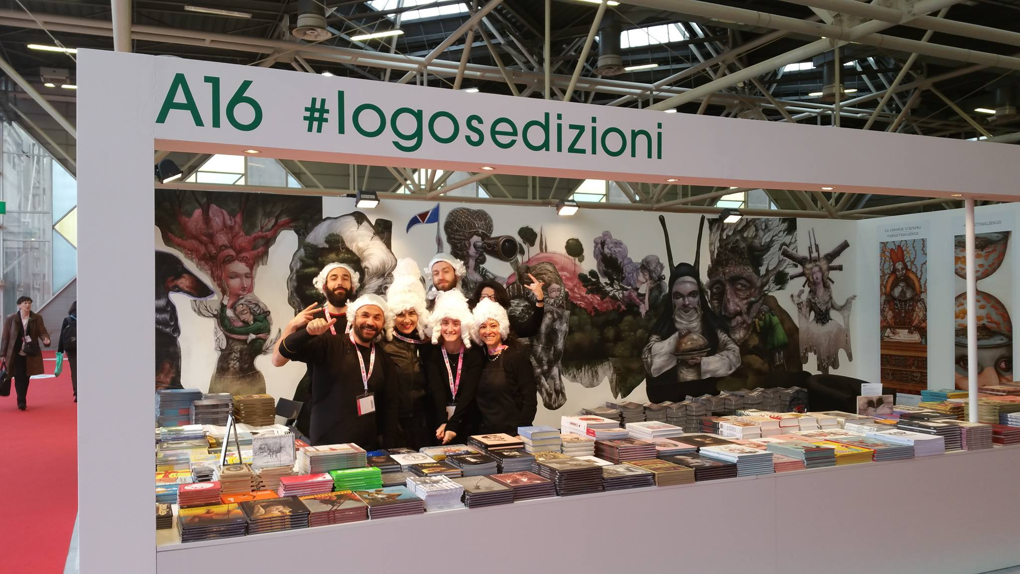 logosedizioni stand in Bologna with the brand new ILLUSTRATI Magazine 'SEVENdwarfs' issue