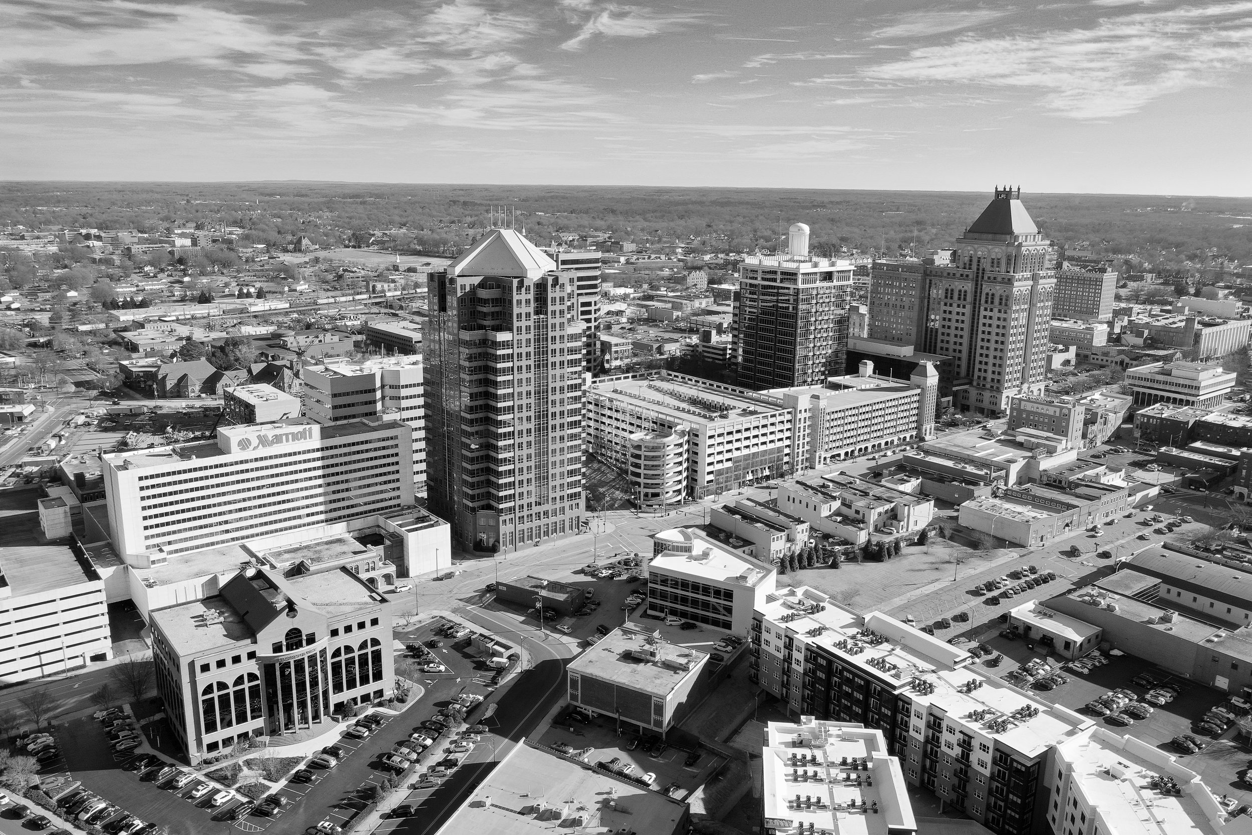 DowntownGreensboro_BW.jpg