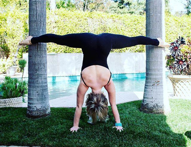 Split the angles  #yoga #handstand #palmtree #yogi #photooftheday #yogainspiration #beverleyhills #torontoyoga #fit #split #canadianinlosangeles #bendy
