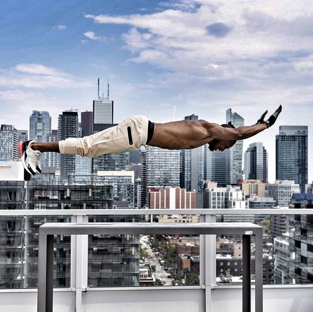 Elevate with @soooconrad  #calisthenics #jump #elevate #power #muscle #body #torontoproshow #the6ix