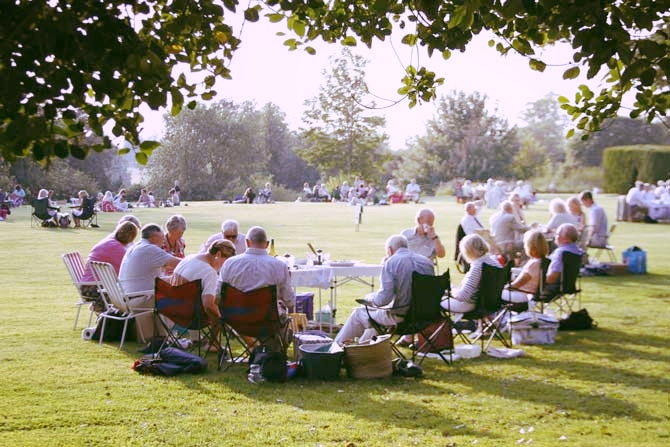 Picnic in the beautiful grounds before the performance