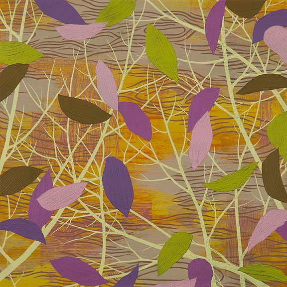 "Refuge 8, Acrylic on paper, framed 18 x 18"""