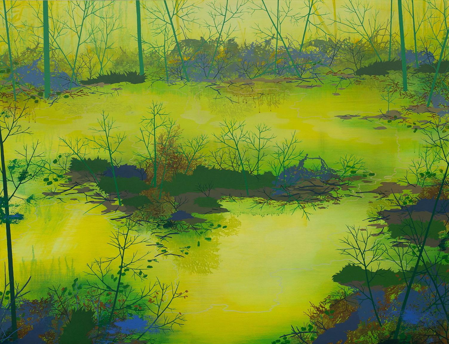 "Wilderness   Acrylic on canvas 46 x 60 x 1.5"""