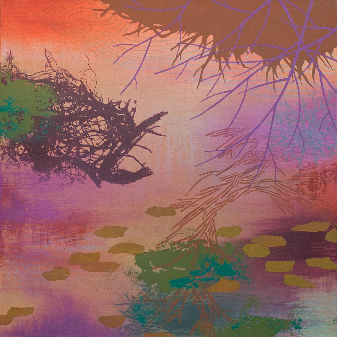 """Days End   Acrylic on canvas 24 x 24 x 1.5"""""""