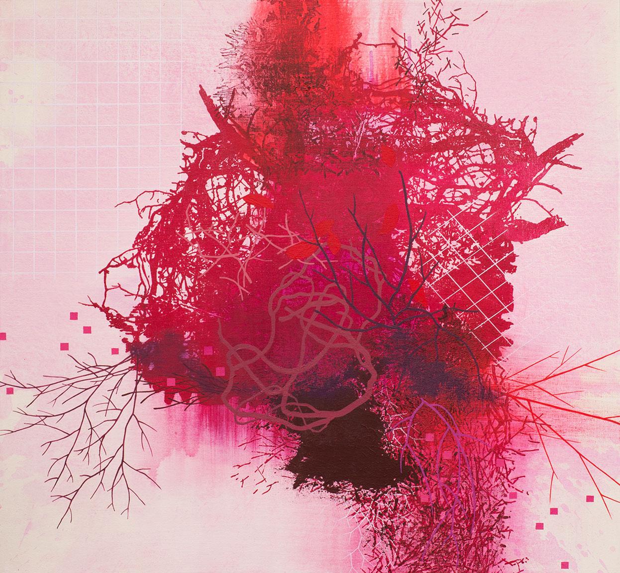 "Emergence   Acrylic on canvas 28 x 30 x 1.5"""