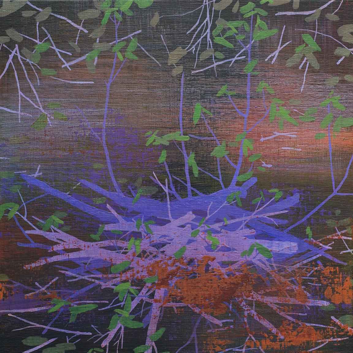 "In Shadow   Acrylic on canvas 12 x 12 x 1.5"""