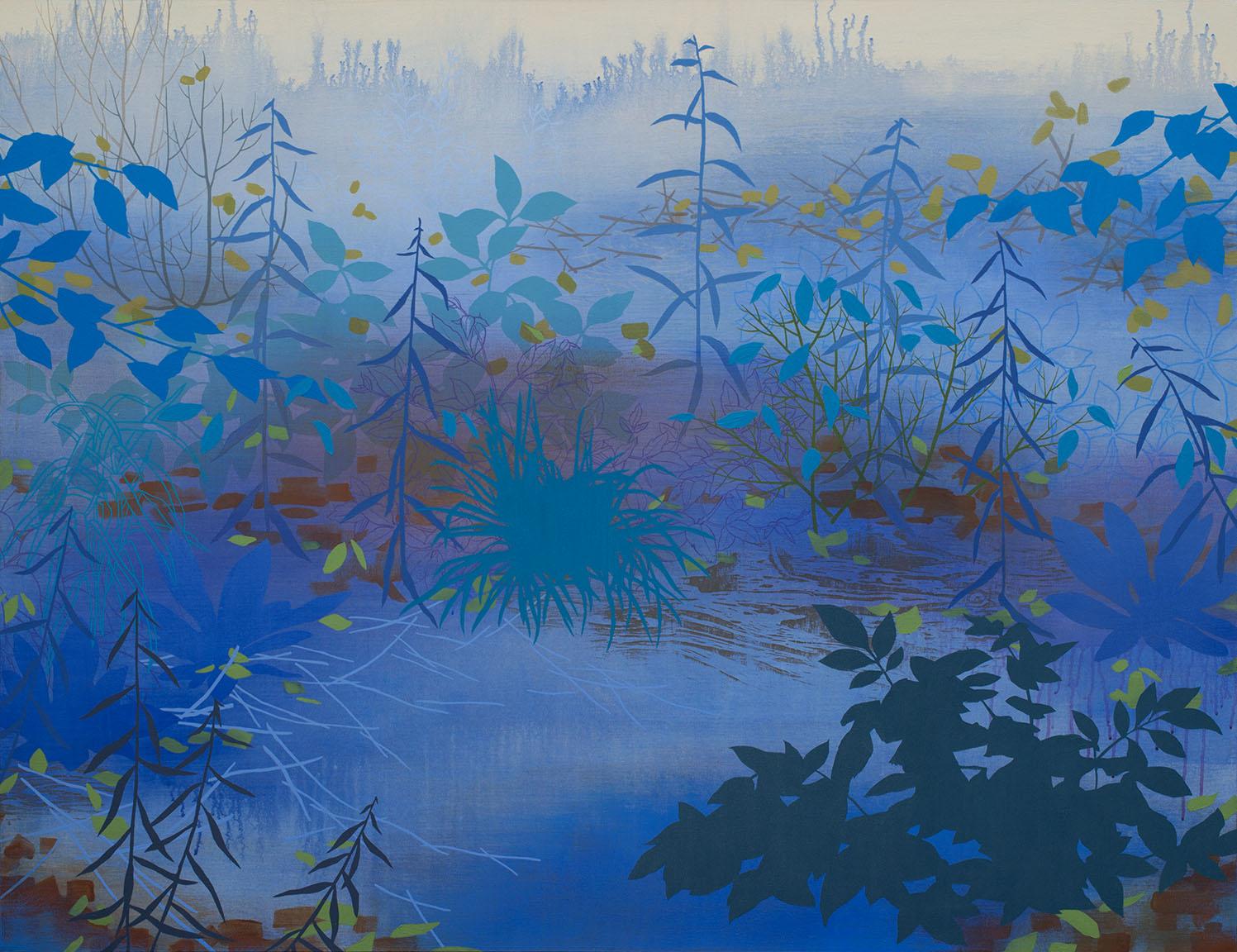 """Late Summer Twilight   Acrylic on canvas 46 x 60 x 1.5"""""""