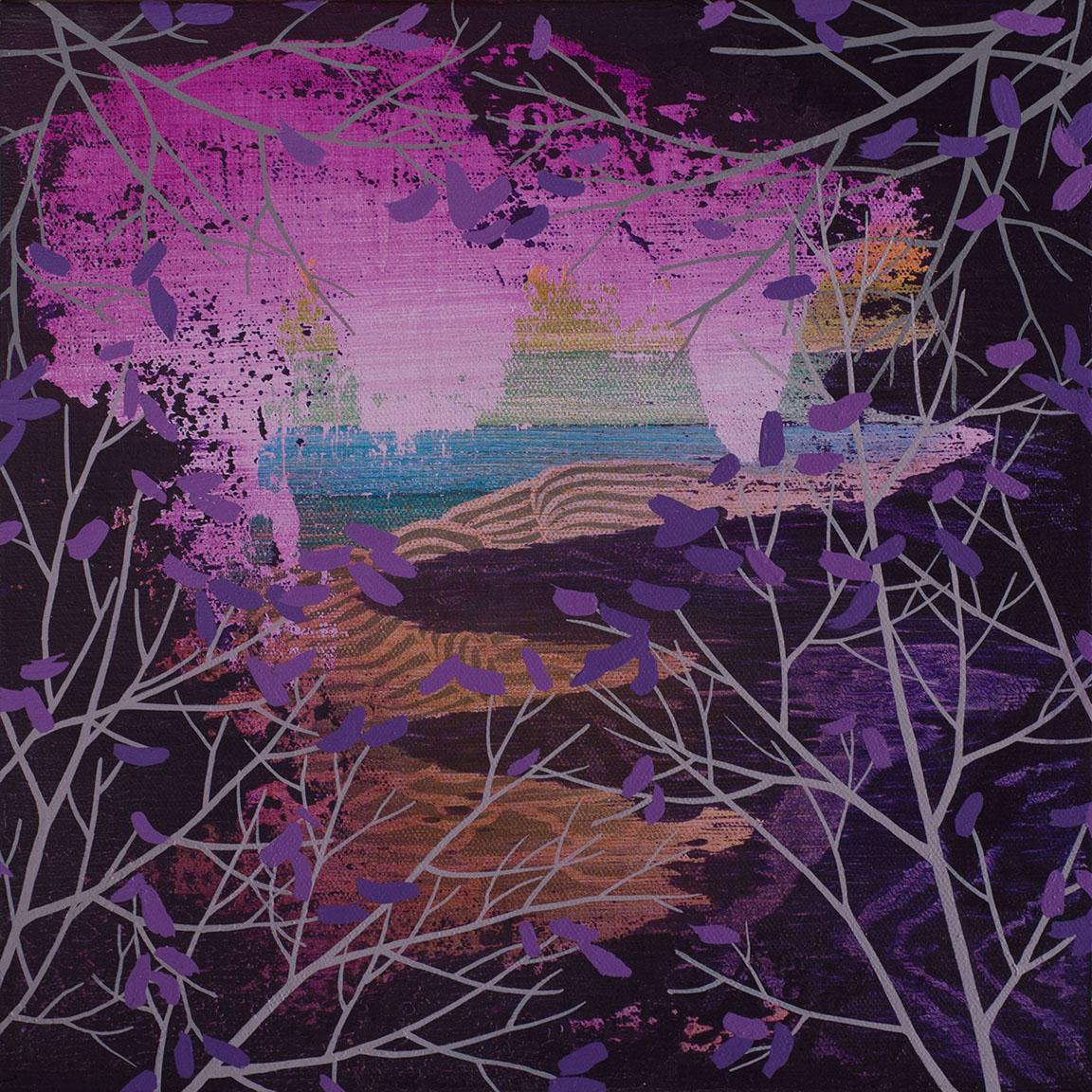 """Crevice   Acrylic on canvas 12 x 12 x 1.5"""""""