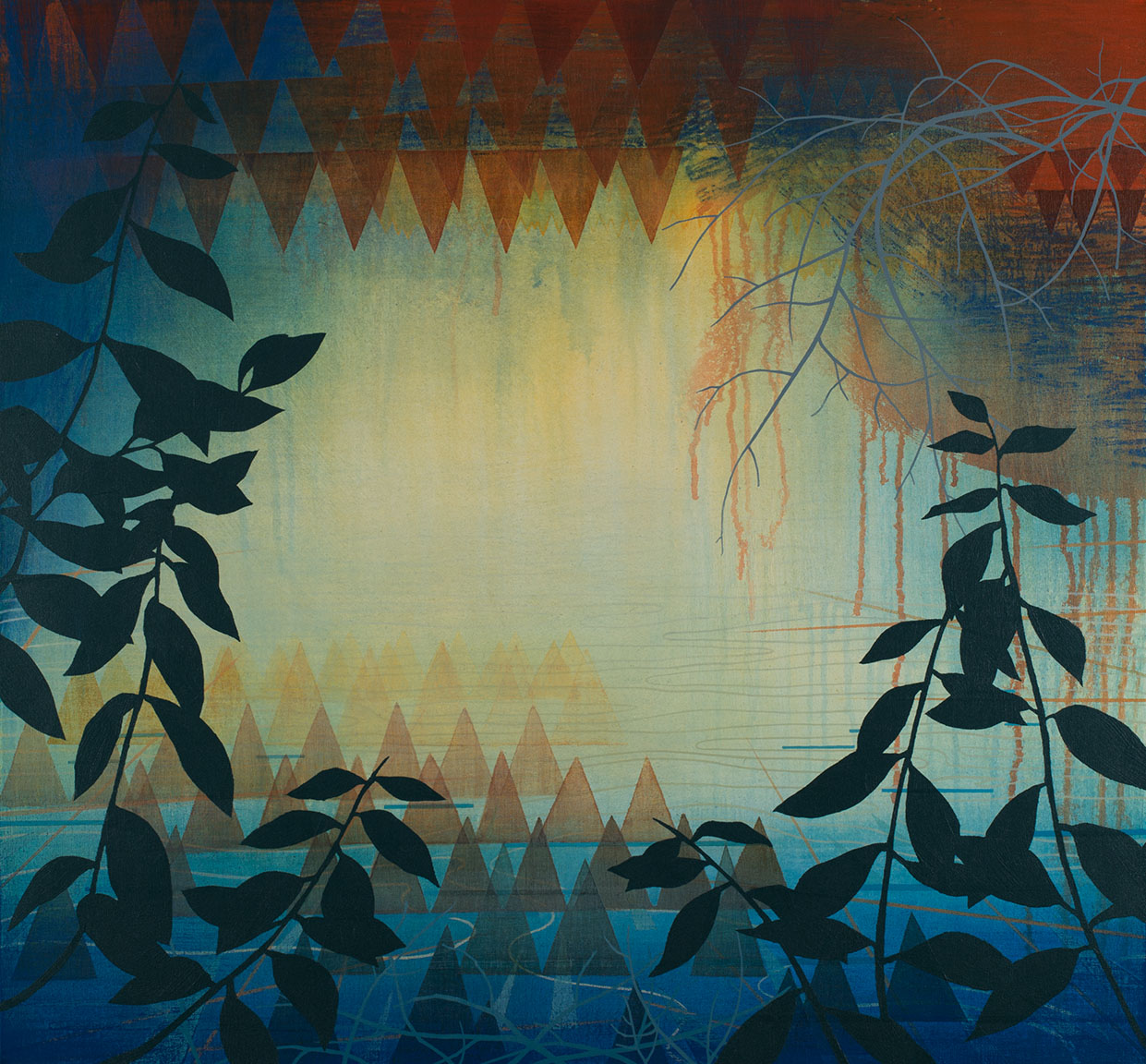 """Water Cave   Acrylic on canvas 28 x 30 x 1.5"""""""