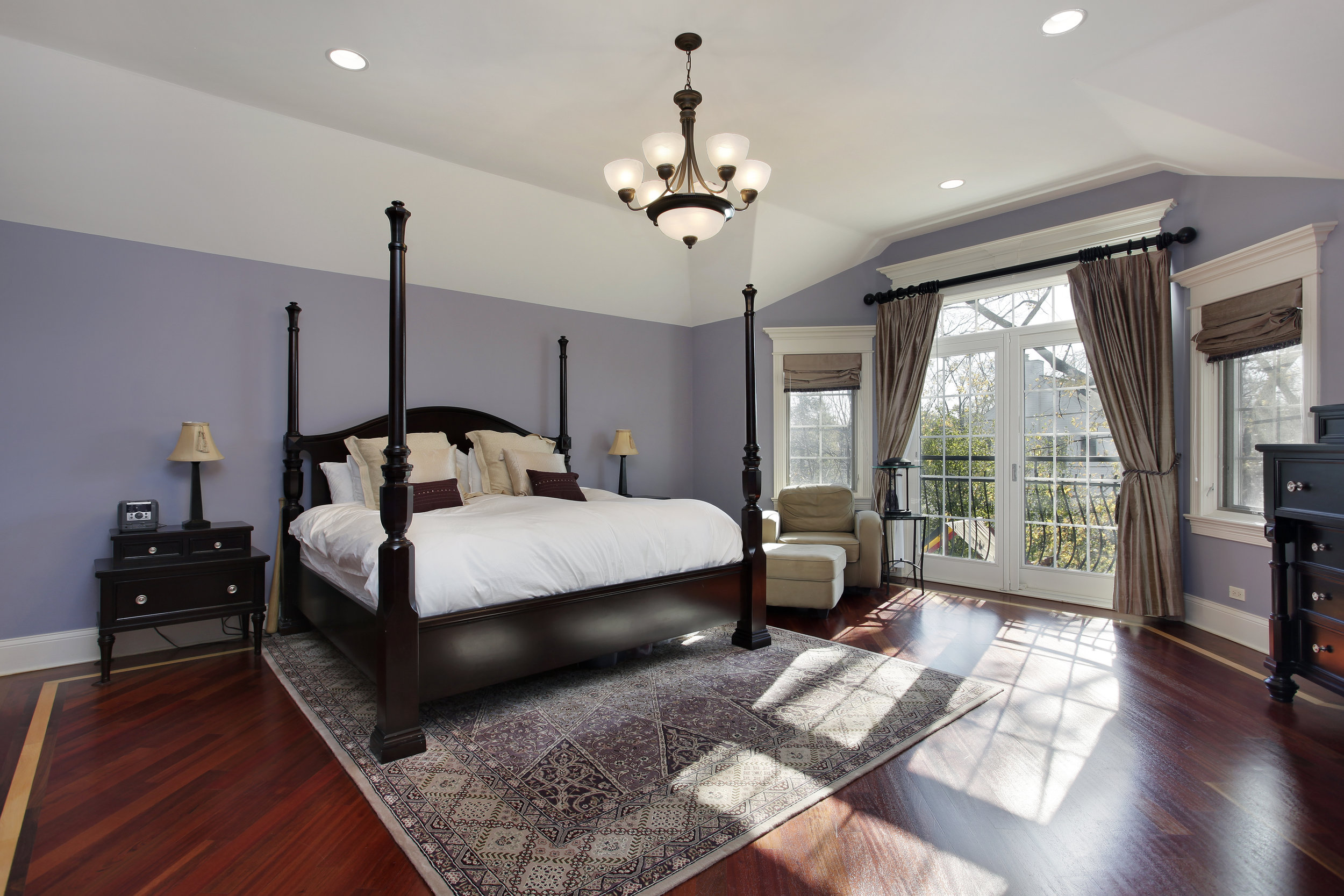 Interior Design Ideas for a master suite including Roman Shades in Nashua New Hampshire