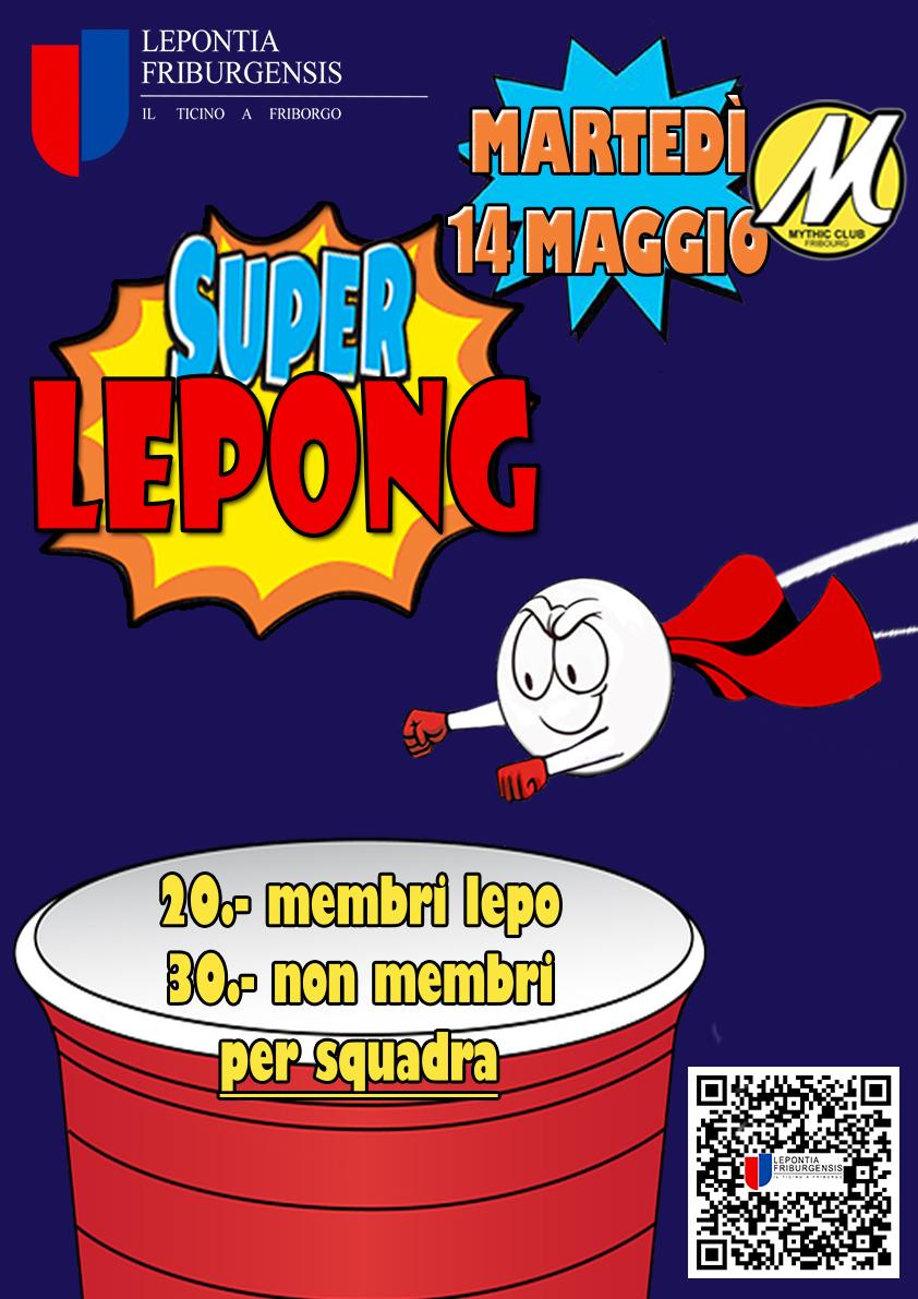 Super Lepong - Questo evento è oramai un istituzione! Vi aspettiamo (ricordatevi di iscrivere la vostra squadra).