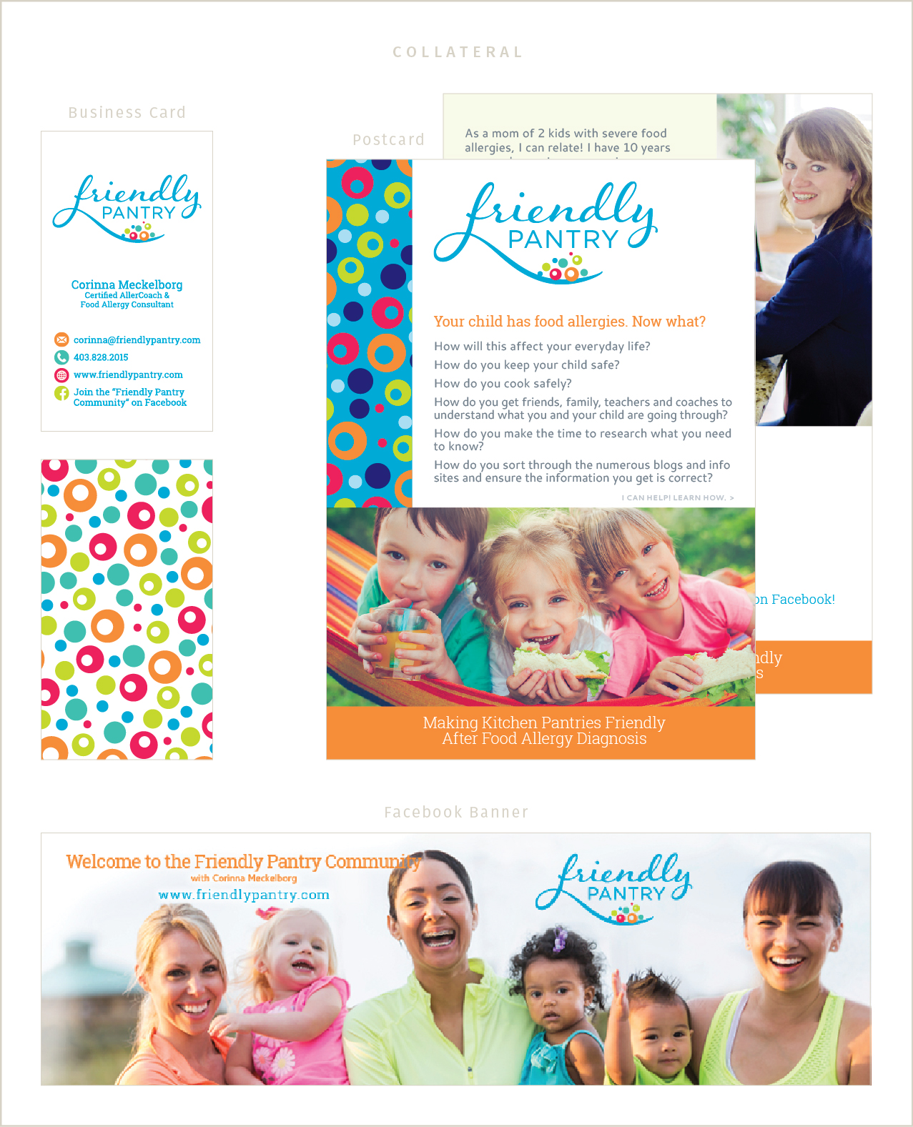 custom collateral materials for Friendly Pantry