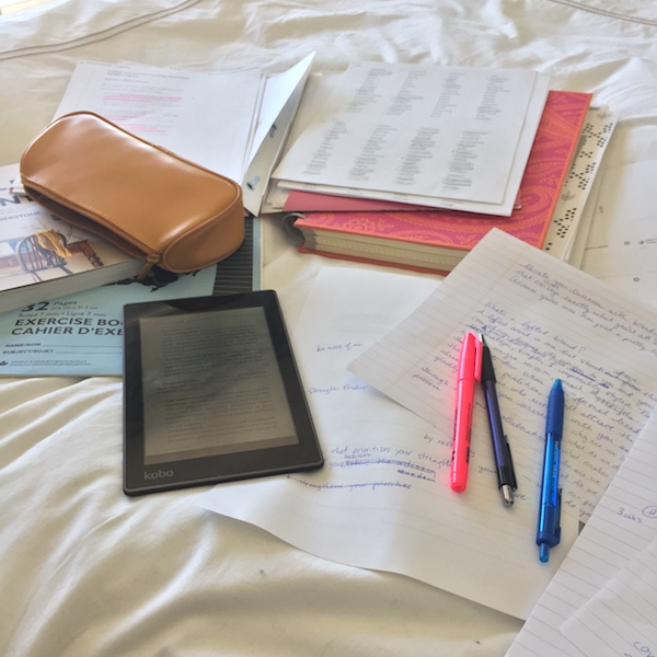 """This is what """"word vomit"""" looks like when you're trying to find clarity. Cathartic, but utterly exhausting for me. (Ever since high school, I prefer writing on my bed rather than at a computer.) -"""