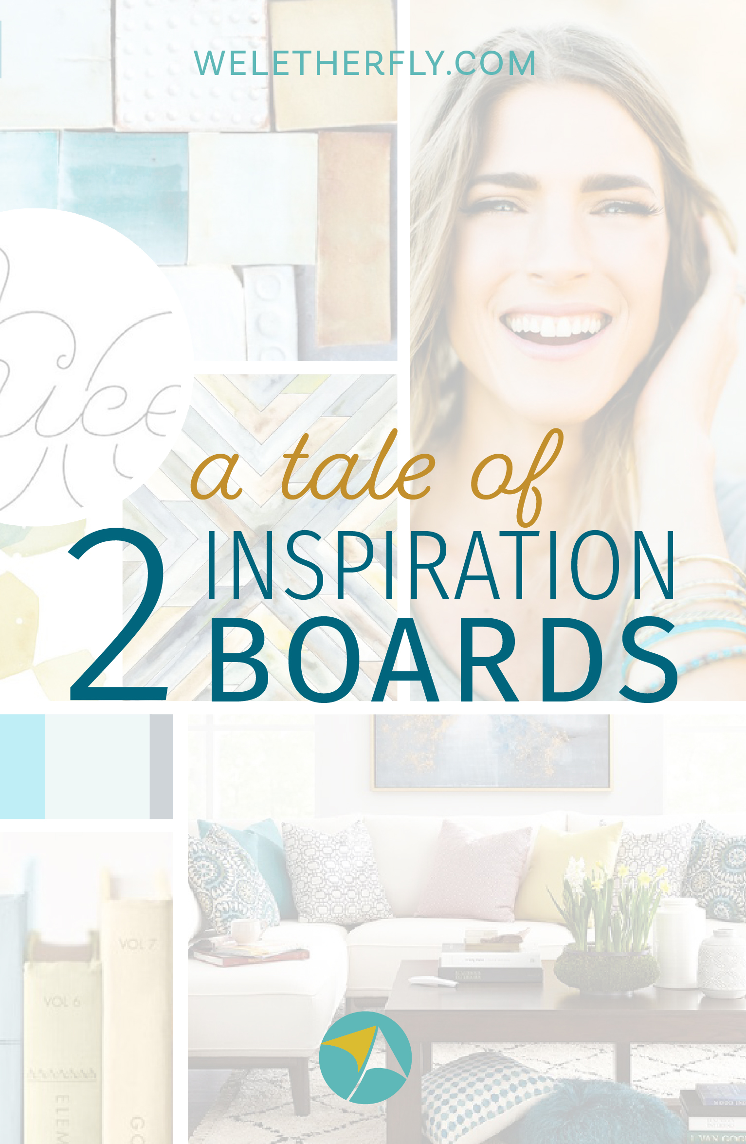 A tale of 2 inspiration boards by Michelle Clayton at Let Her Fly