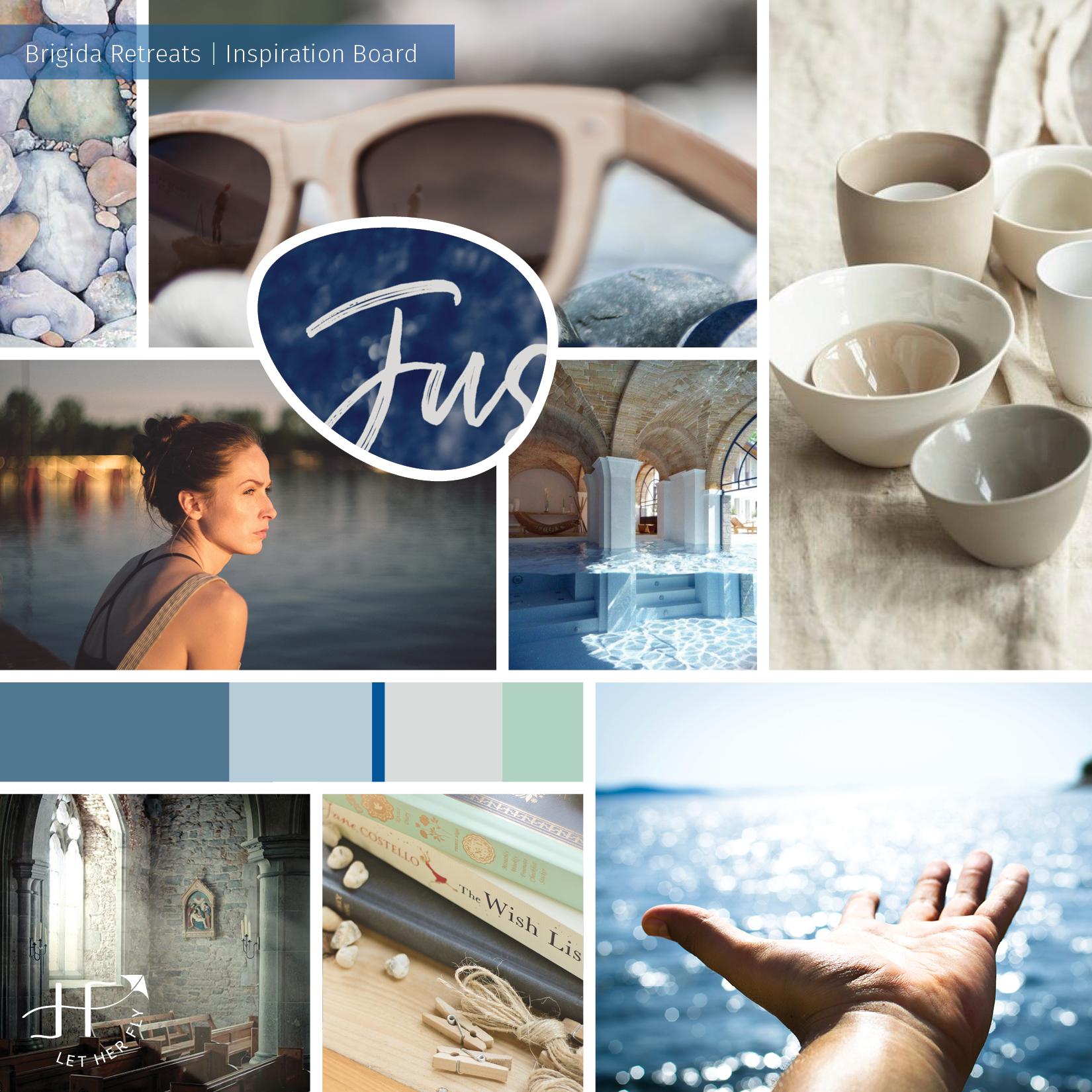 Design Inspiration Board for Brigida Retreats
