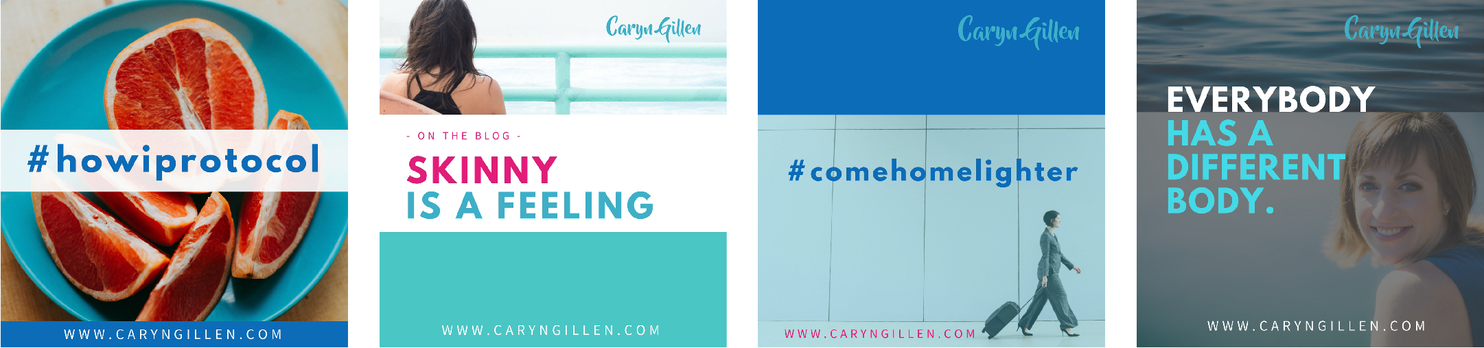 A peek behind the scenes at the Custom Social Media Templates for Caryn Gillen by Let Her Fly
