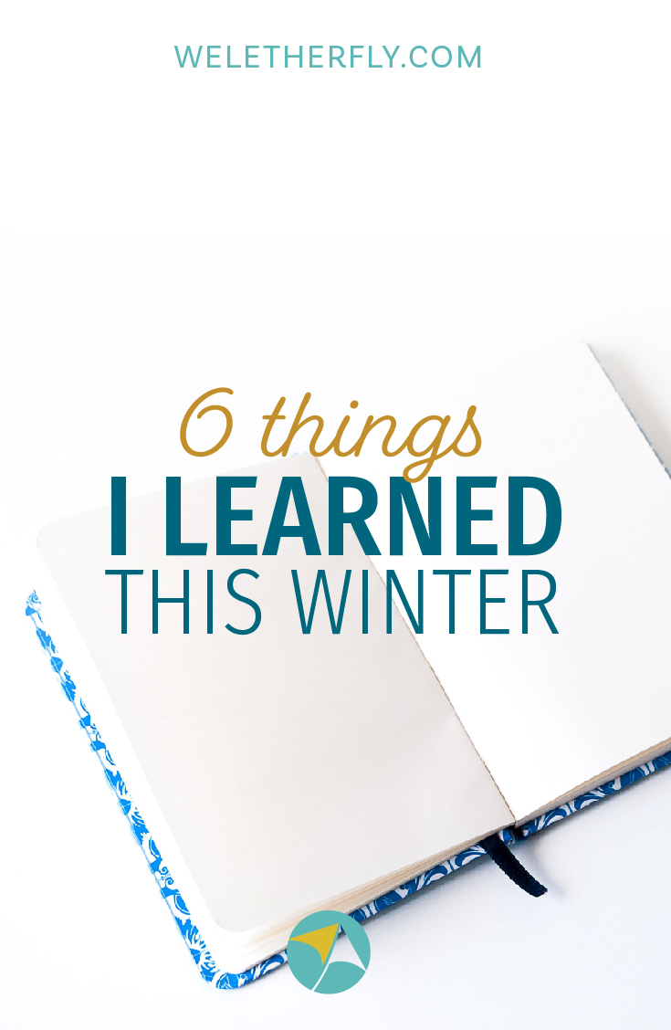 6 things I learned this Winter that have nothing to do with Branding by Michelle Clayton of Let Her Fly