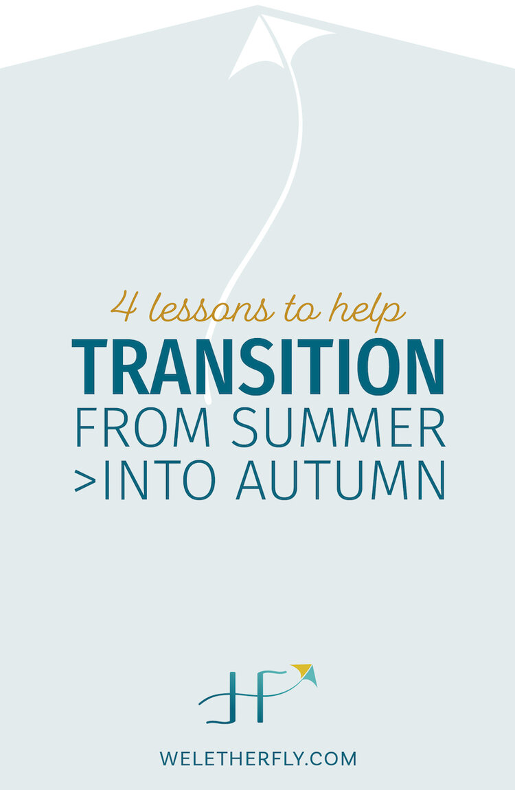 "Caption text These 4 lessons have helped me feel lighter and freer which, in my books, is a great way to wrap up Summer and transition into Autumn. It's so easy to feel like Summer was the ""free time"" and September is back to work and drudgery. It doesn't have to be that way!"