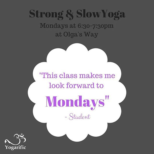 I'm really loving this new addition to my schedule at @olgas.way and apparently I'm not the only one! . Making Mondays better, one breath at a time! #YogaOrleans #Yogarific