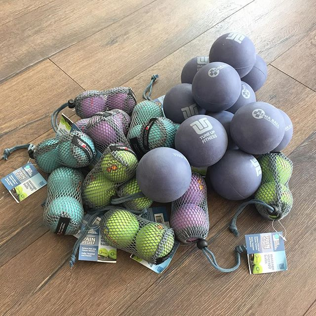 Dear @yogatuneup, your delivery is on point! One single business day for this amazing loot of Yoga Tune Up Therapy Balls to come in. Just in time for this weekend's great workshop lineup! Oh.My.Quad! On Saturday and Happy Feet on Sunday.