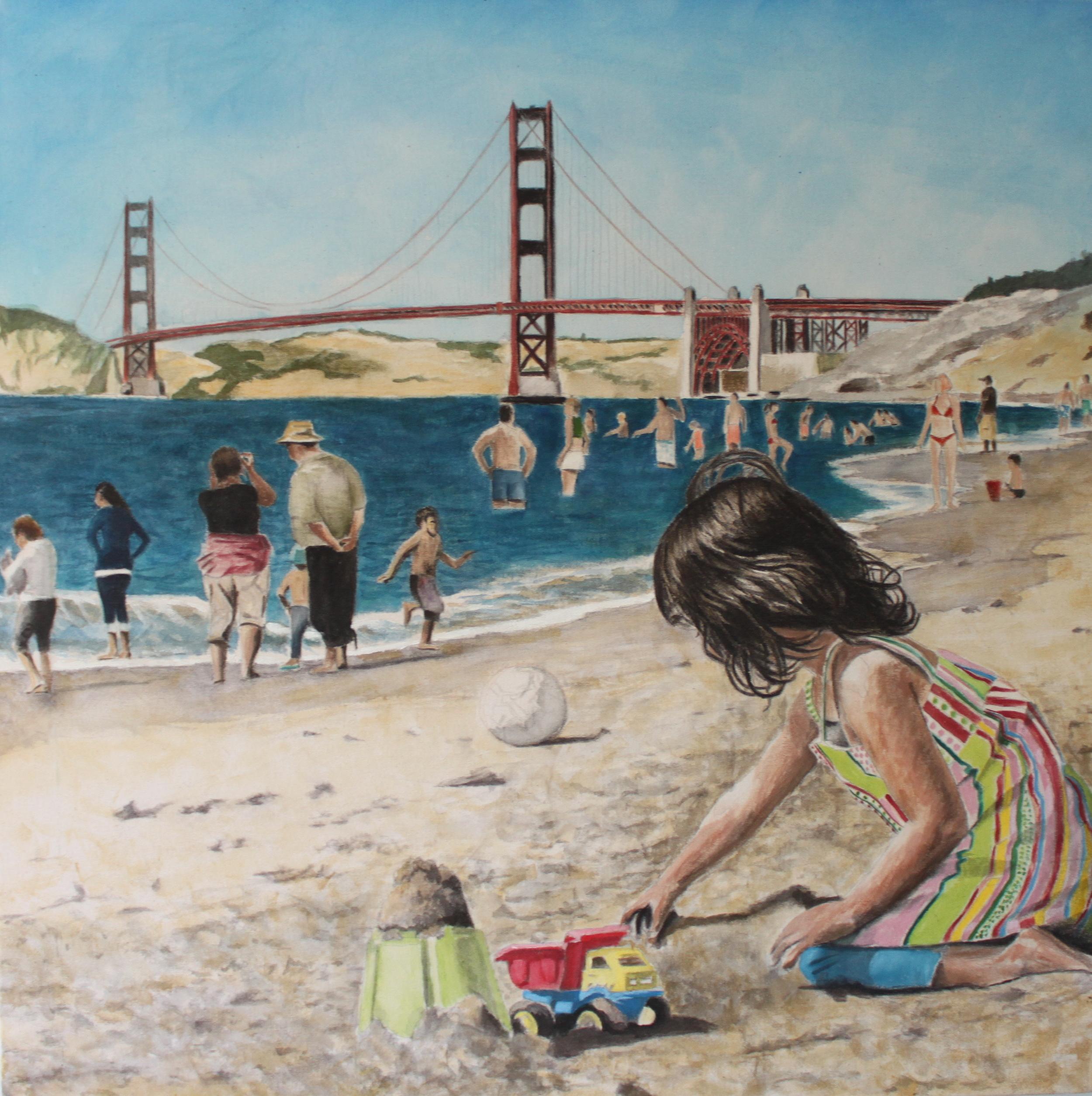 Baker Beach, 2010, acrylic on canvas, 36 x 36 in.