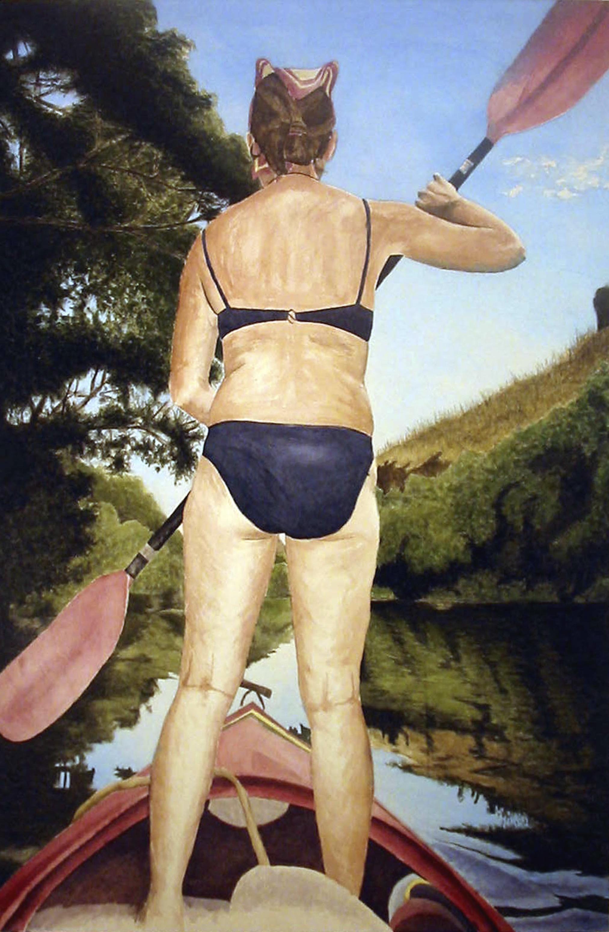 Ramona Paddling, 2007, acrylic on canvas, 72 x 48 in.