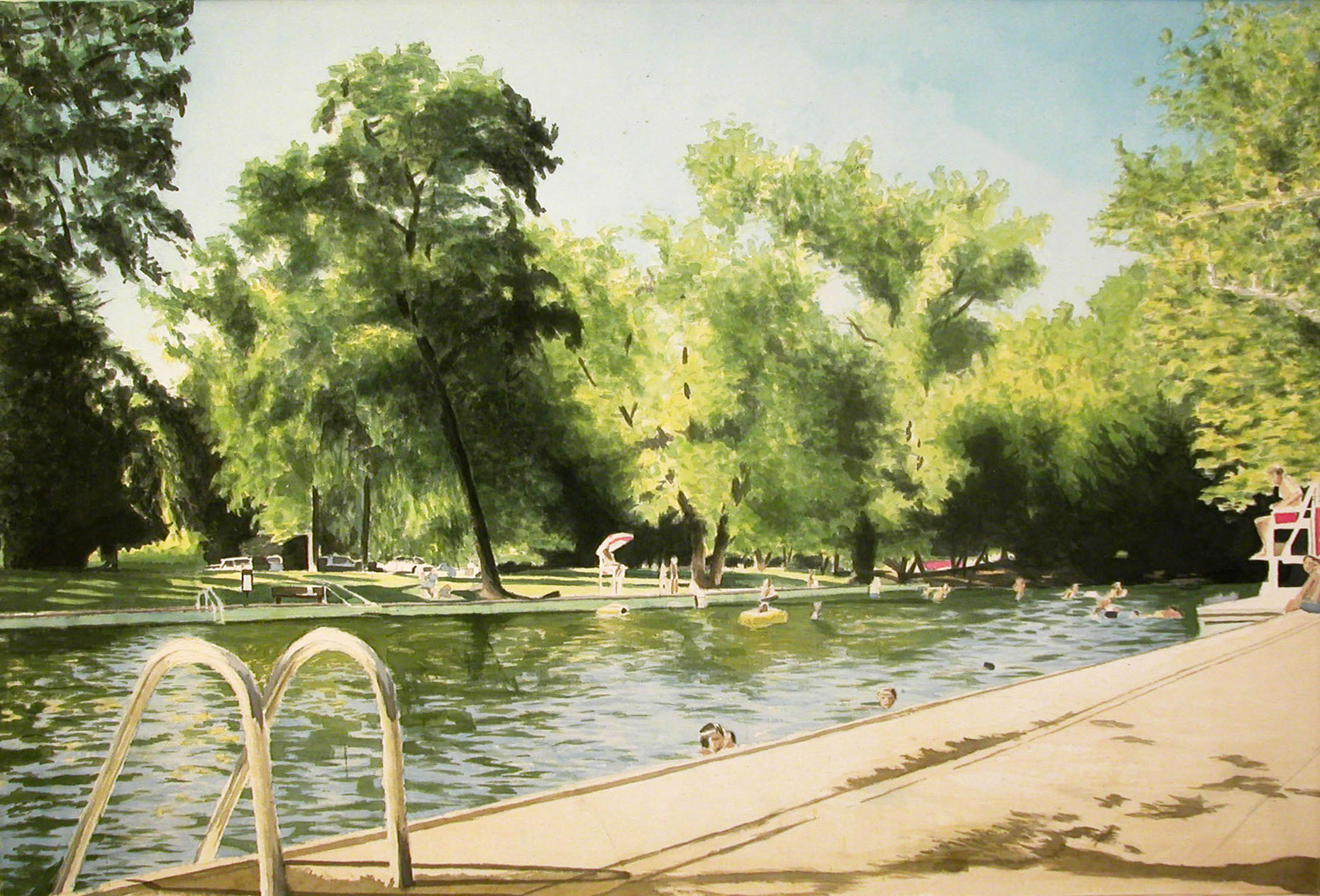 Sycamore Pool, 2002, acrylic on canvas, 36 x 44 in.