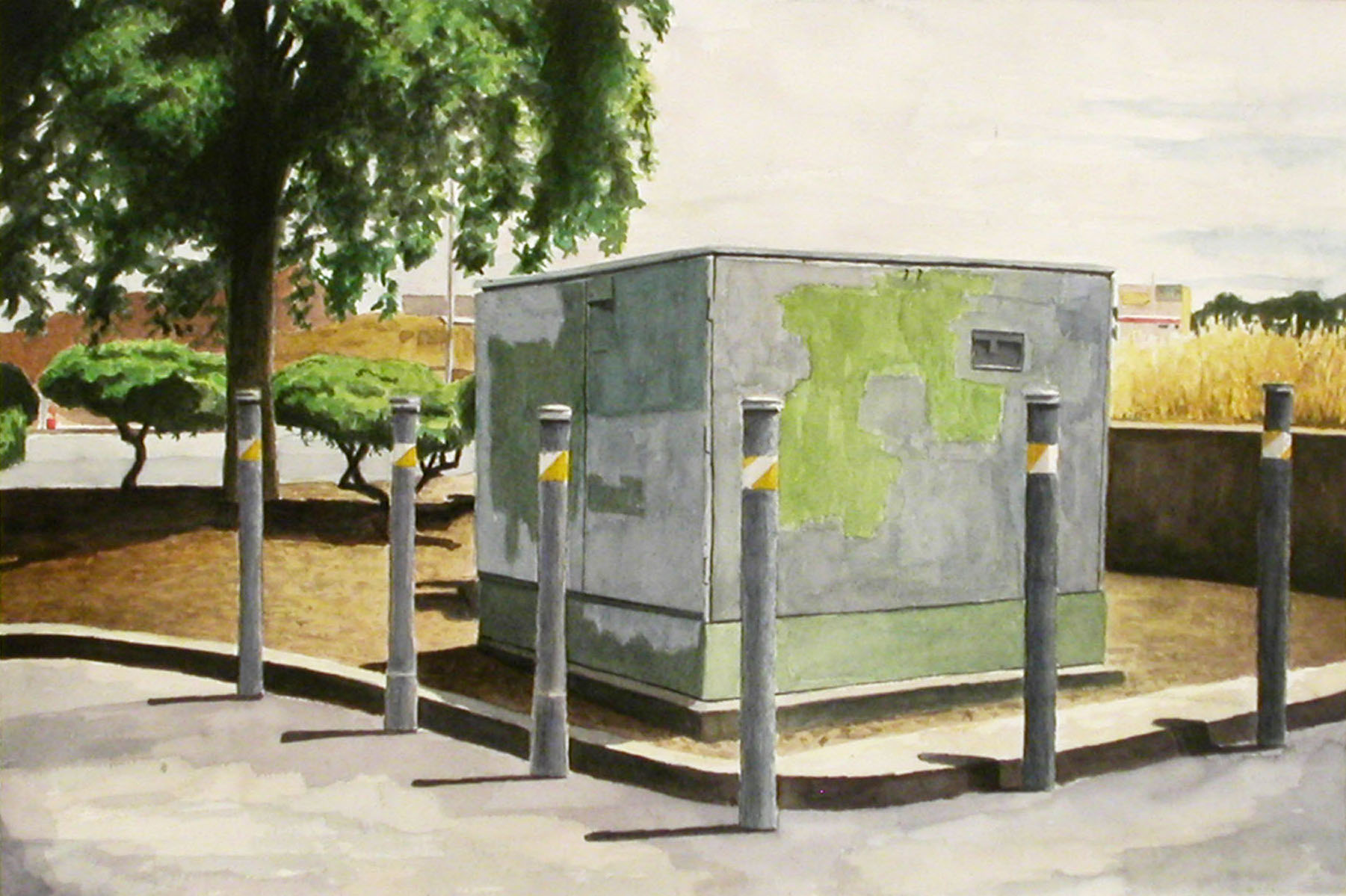 Metal Box, 2002, watercolor, 14 x 21