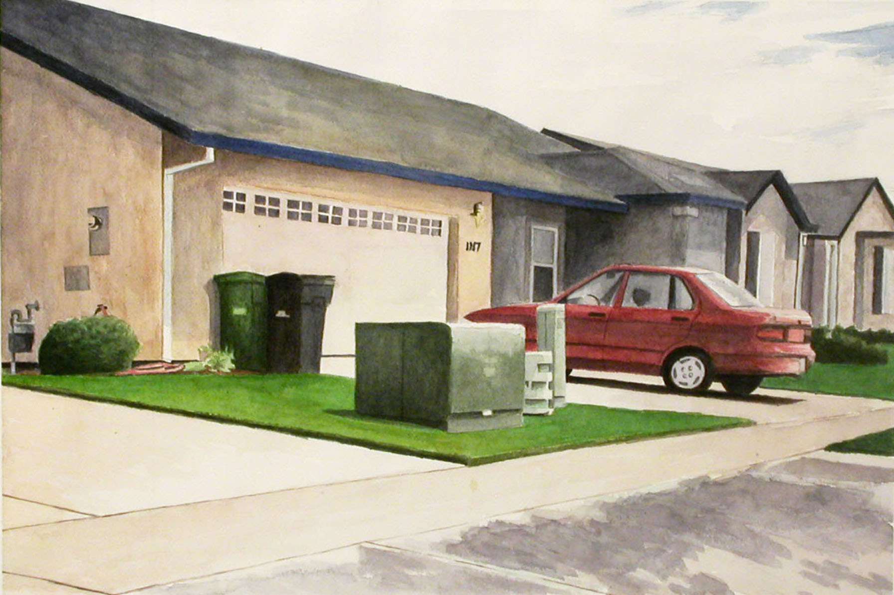 Driveway, 2002, watercolor, 14 x 21 in.