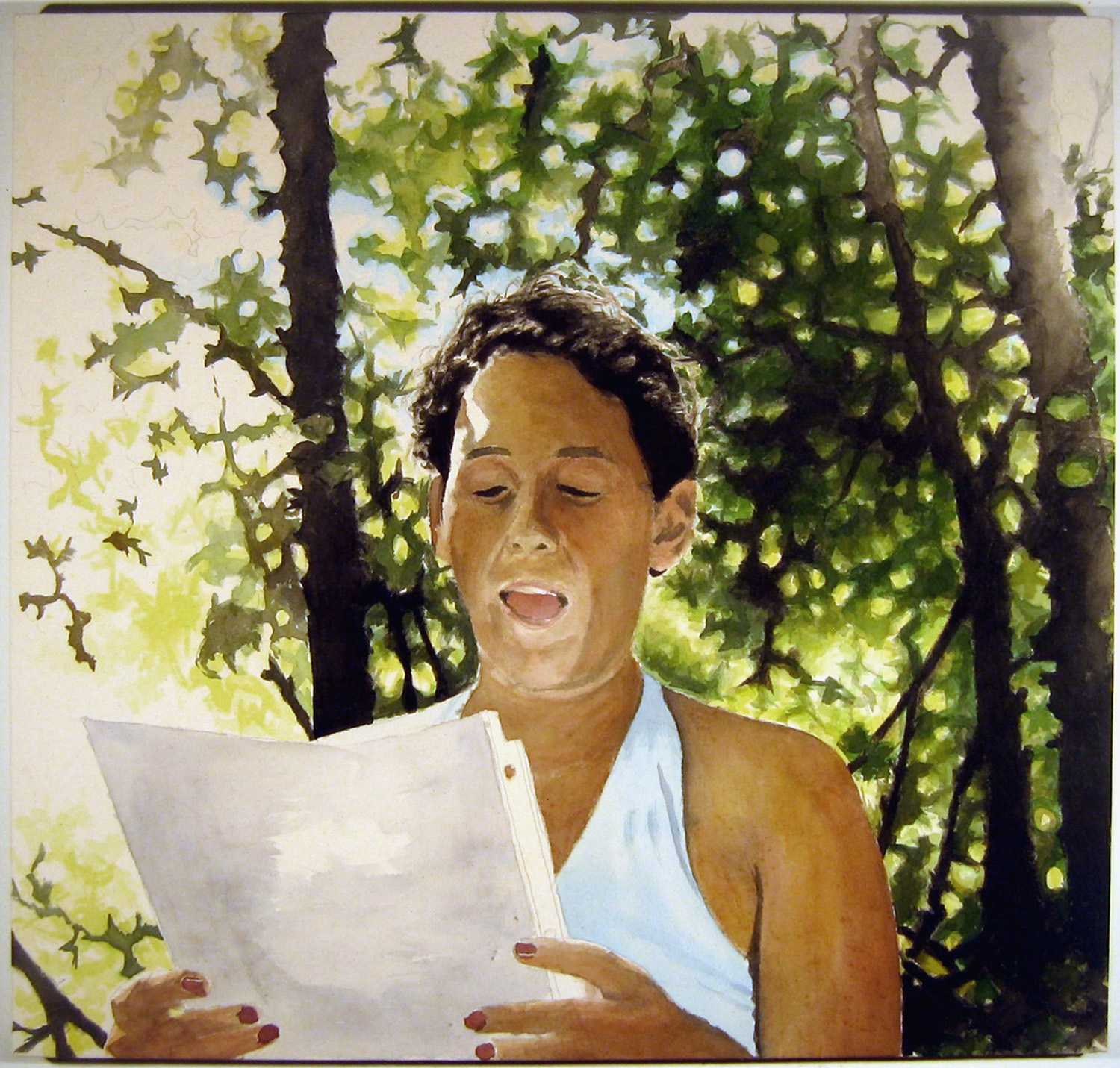 Darcie Reading, 2006, acrylic on canvas, 38 x 40 in