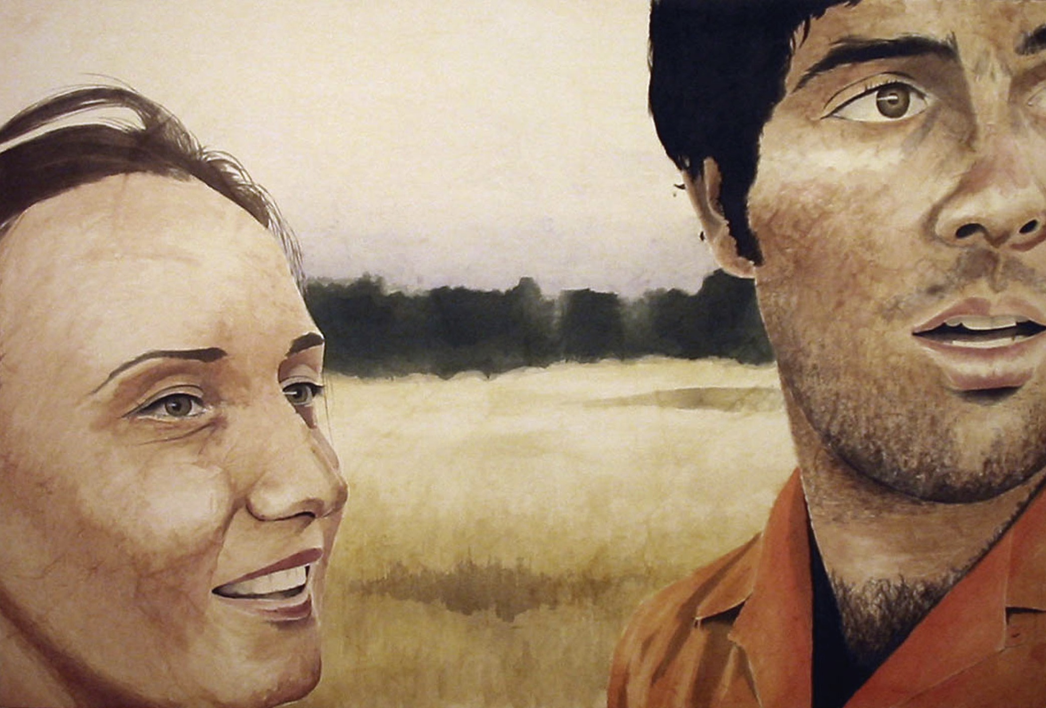 Arran and Ramona, 2006, acrylic on canvas, 48 x 72 in.