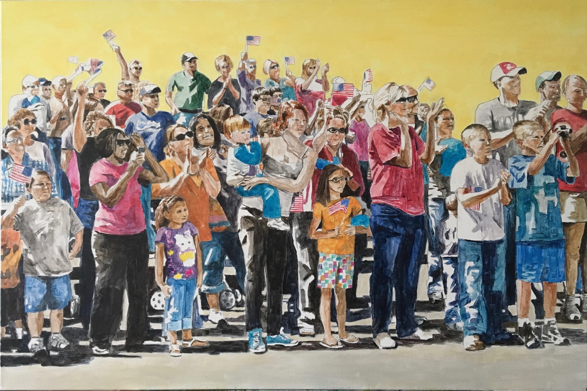 Parade Crowd 2, 2016, acrylic on canvas, 24 x 36 inches