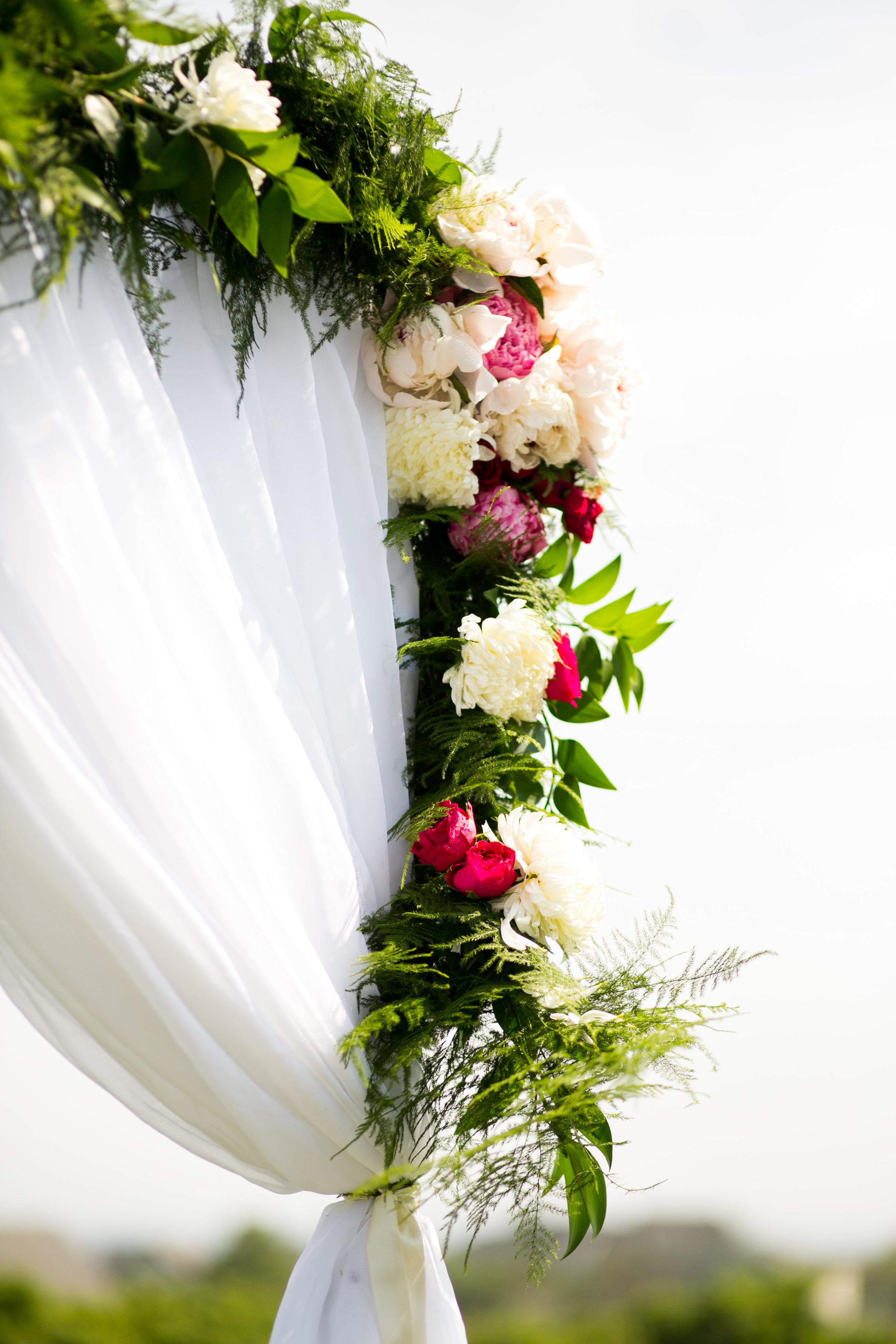Malloy Events | New England wedding florist | Tented oceanside wedding