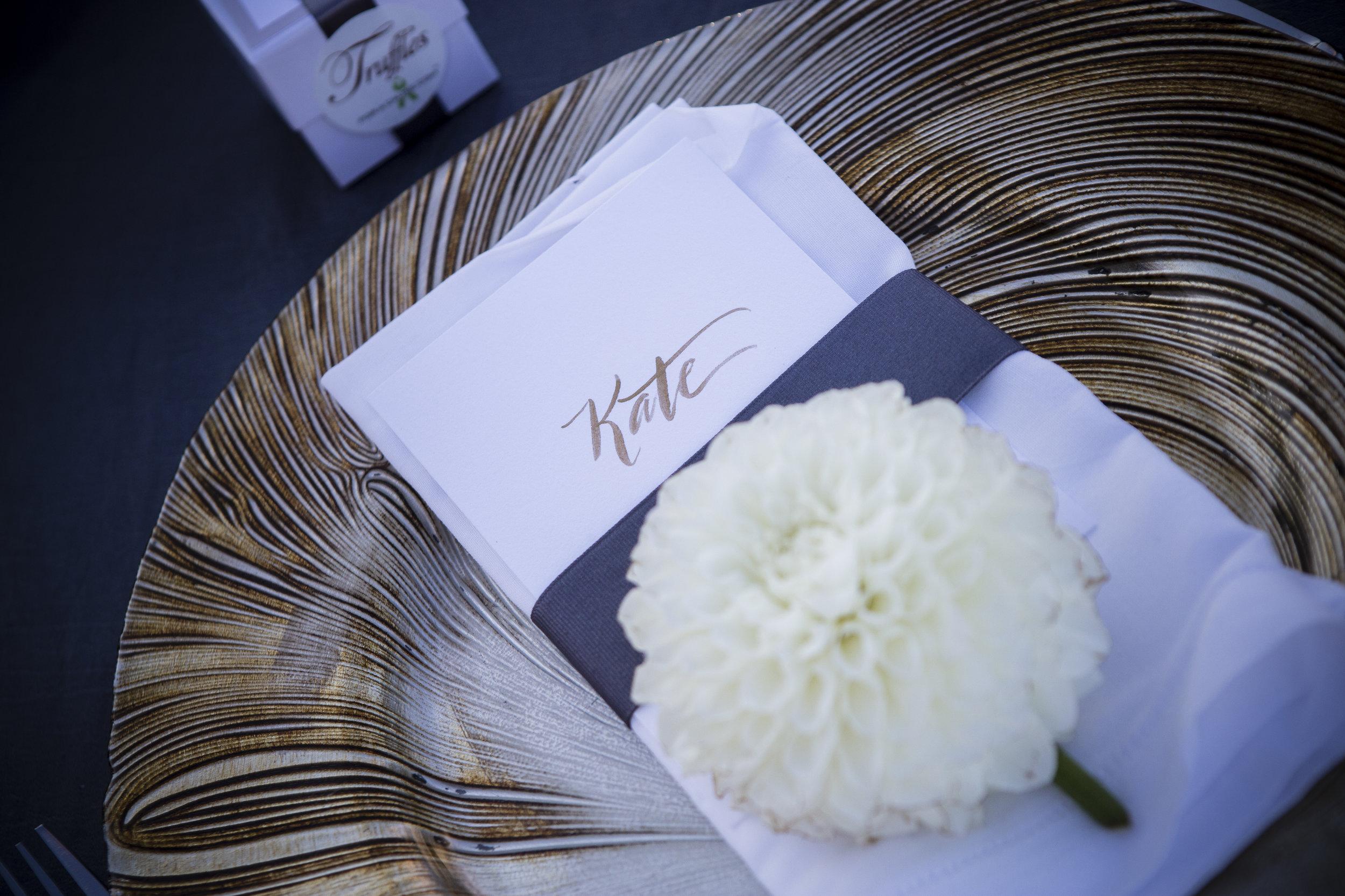 Table reception details.