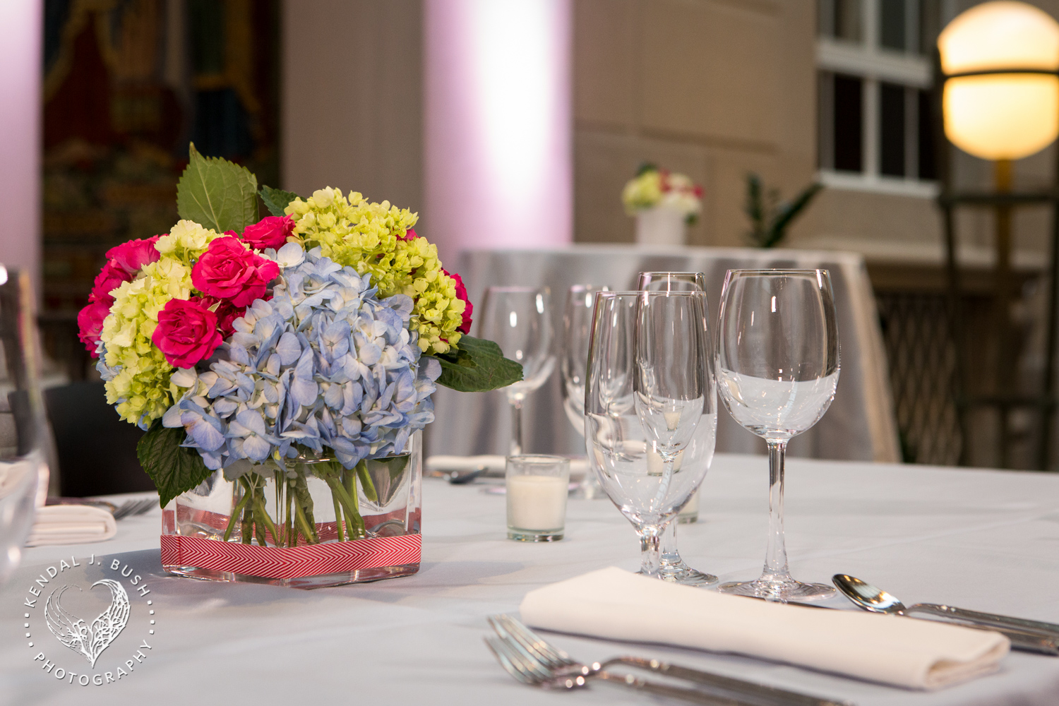 Malloy Events_Currier Museum of Art_Weddings_Sketch blue hydrangea pink roses