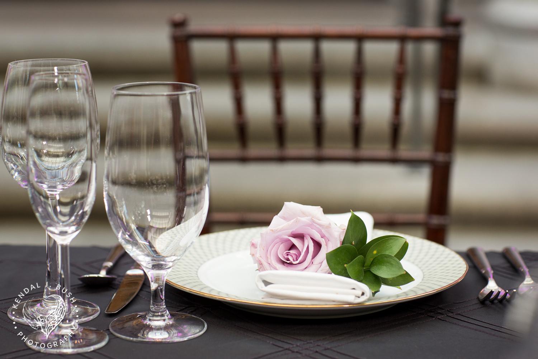 Malloy Events | New England wedding florist | Currier Museum of Art | Winter Garden | Napkin treatment