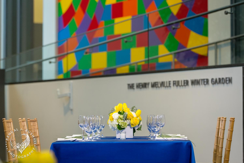 Malloy Events | New England wedding florist | Currier Museum of Art | Winter Garden | Modern wedding