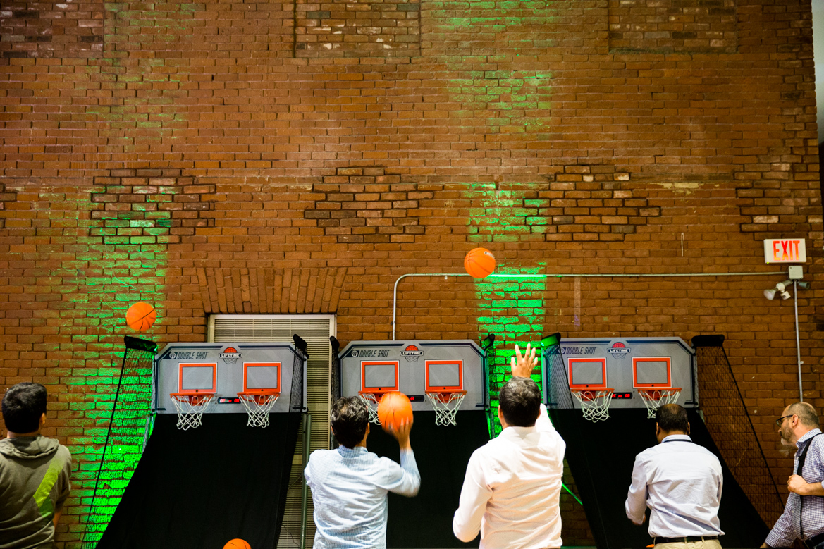Indoor basketball arcade games.