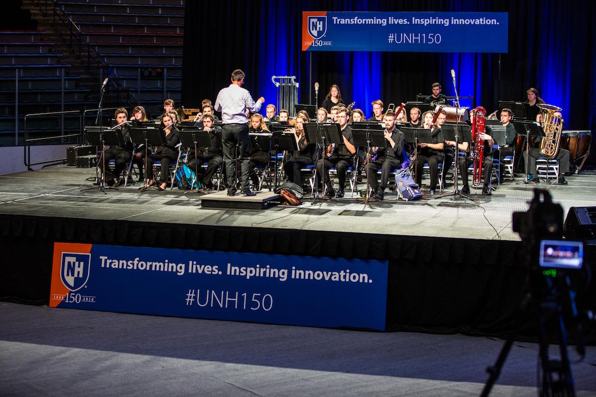UNH Wind Symphony rehearses