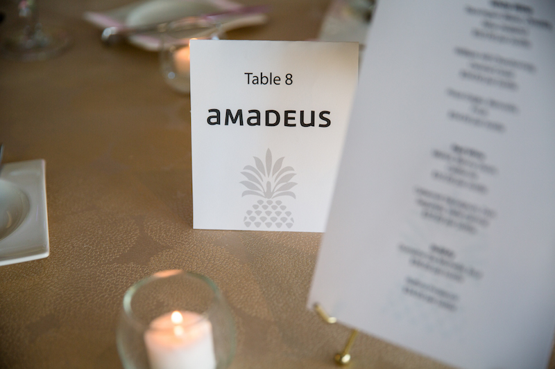 Sponsor branded table numbers