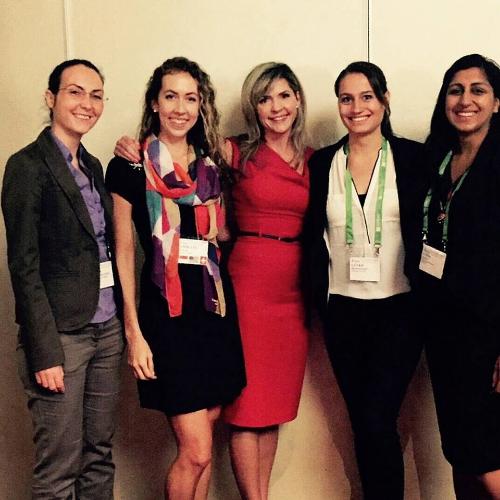 Pictured left to right: Dr. Alina Hernandez Bark (Goethe Institute), Jamie Gloor, Professor Tori Brescoll (Yale University), Levke Henningsen (UZH) and Dr. Avina Gupta (Deloitte Consulting).