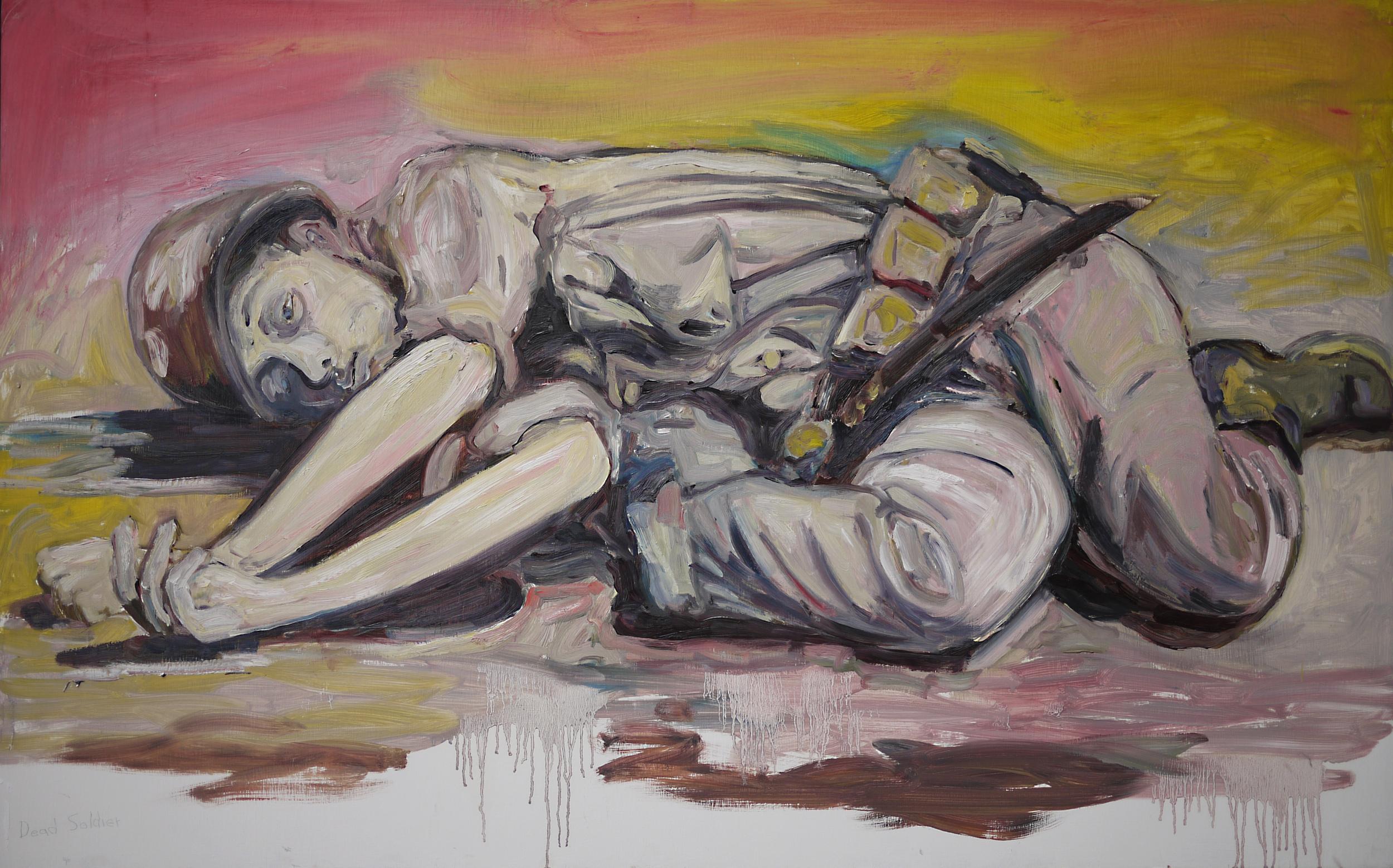 """Dead Soldier"" Oil/Panel"