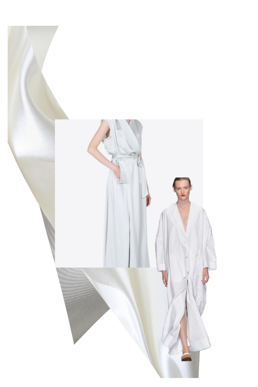 Centre Image:  Maison Margiela-  Silk Wrap Dress   Cut Out Image:  Eudon Choi Spring 15 via  style.com
