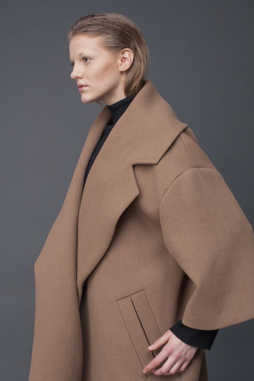 Camel Oversize Coat | LAKE